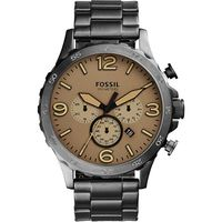 FOSSIL Nate 世紀戰神三眼計時腕錶~卡其X灰 50mm JR1523