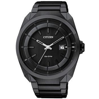 CITIZEN Eco-Drive 時尚紳士風腕錶-黑/42mm AW1015-53E