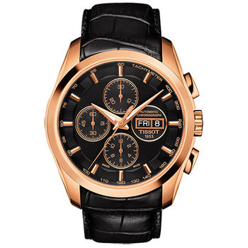 TISSOT 天梭 建構師系列奢華時尚三眼機械腕錶/43mm/T0356143605101
