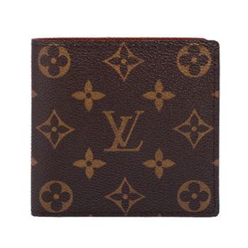 LV M61675 經典印花Monogram實用短夾/零錢包