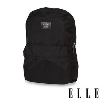 【ELLE HOMME】紳士輕旅專用可掛式摺疊收納尼龍後背包(紳士黑 EL83898-02)