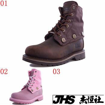 (預購)pathfinder款60801春季女士拼接潮流短筒馬丁靴PF牛皮復古時尚工裝靴(JHS杰恆社)