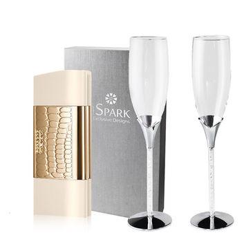 Swarovski 施華洛世奇 典藏時尚女性淡香水香檳組 (限量版)
