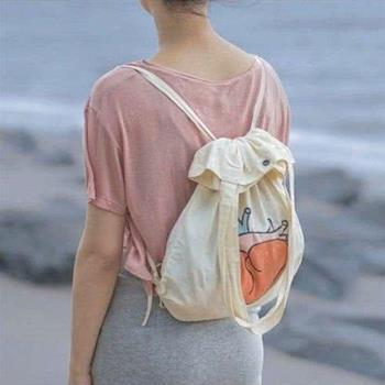【SEIO】後背包 肩背包 帆布包 SEIO 自訂款 OH,My heart 創意兩用肩背包 後背包 簡約 帆布束口 (三款)