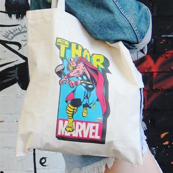 【SEIO】帆布包 Marvel 禮物 SEIO 自定設計環保帆布包 英雄 雷神索爾 交換禮物 手拿 肩背包