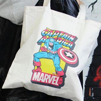 【SEIO】帆布包 Marvel 禮物 SEIO 自定設計環保帆布包 英雄美國隊長 聖誕節交換禮物 手拿 肩背包