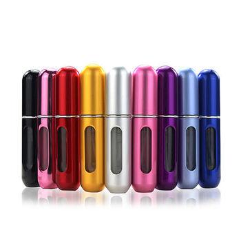 自泵式香水分裝瓶 / 底部充液式隨身香水噴霧瓶 5ml顏色隨機出貨