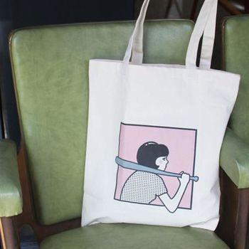 【SEIO】帆布包 環保包 經典歐美 SEIO 自定款設計環保帆布包 文青女孩 文青必備 手拿肩背包