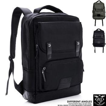 【AJ.亞介】商務型簡約風 筆電包 後背包 黑色 (UE7609)