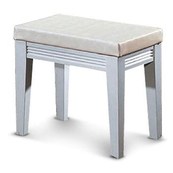 【MY傢俬】純白簡約橫紋化妝椅