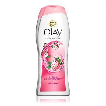 【原裝進口】美國 OLAY 白草莓香沐浴乳(700ml)*3