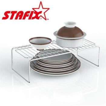 【韓國原裝進口STAFIX】全不銹鋼萬用碗盤層架