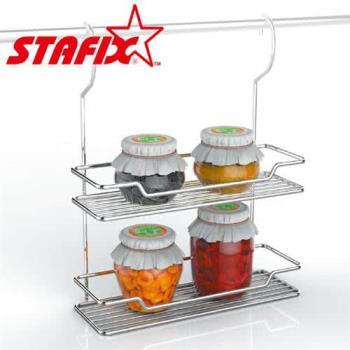 【韓國原裝進口STAFIX】全不銹鋼雙層吊掛置物架