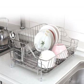 【韓國原裝進口STAFIX】不銹鋼單層碗盤置物架