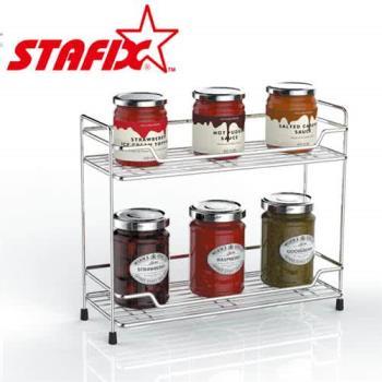 【韓國原裝進口STAFIX】全不銹鋼雙層置物架