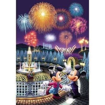 【日本TENYO】迪士尼夜光拼圖-米奇米妮的夏日花火 300片 D-300-221