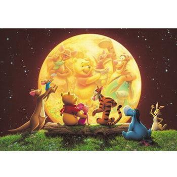 【日本TENYO】迪士尼夜光拼圖-小熊維尼月光聚會 300片 D-300-180