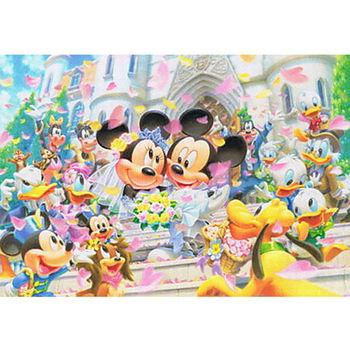 【日本TENYO】迪士尼進口拼圖-米奇米妮婚禮 108片 D-108-994
