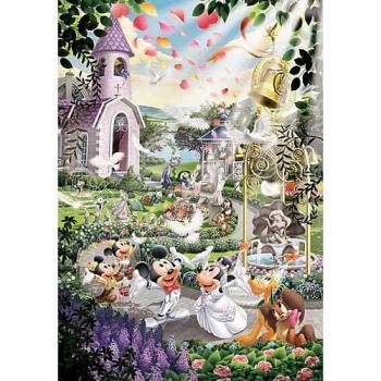 【日本TENYO】迪士尼雷射拼圖-史迪奇世界婚禮 108片 D-108-733