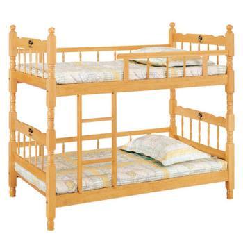 【顛覆設計】耐吉3.2尺雙邊實木雙層床(不含床墊)