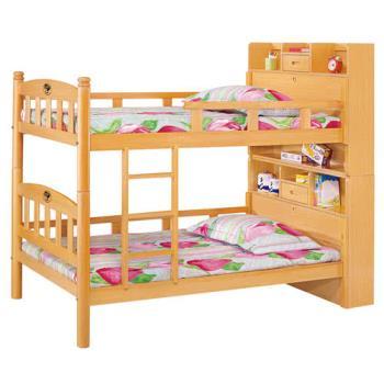 【顛覆設計】木白3.5尺多功能書架型雙層床(不含床墊)