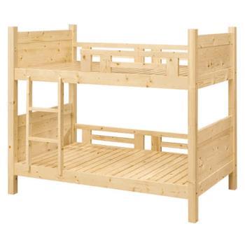 【顛覆設計】森林松木3.5尺全實木雙層床(不含床墊)