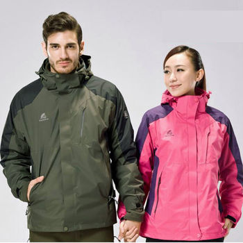 【LANNI】三穿式 戶外防風透氣保暖外套 ( 天空藍 / 玫紅 / 紅 / 軍綠 ) 4色選 L ~ XXXXL