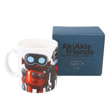 agnes b. AkiAkis friend機器人馬克杯(白)