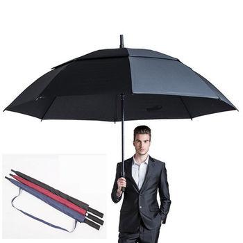 PUSH! 好聚好傘專利抗風降壓雙層自動傘雨傘遮陽傘戶外防雷傘(110CM)I64