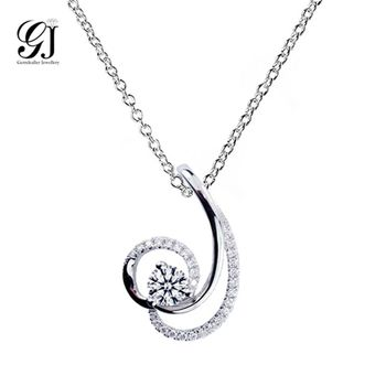[晉佳珠寶] Gemdealler Jewellery 迷人弧度 18K金鑽石墬飾 GIA 30分 D/VS1 _預購[DN27]