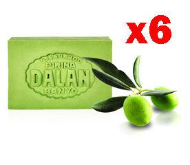 【dalan】純橄欖油手工皂經典禮盒(橄欖皂x6+贈送台灣土產天然絲瓜條)
