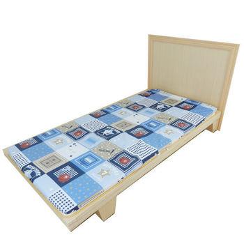 【時尚屋】冬夏兩用5尺雙人三折式刮青床墊BU301-5