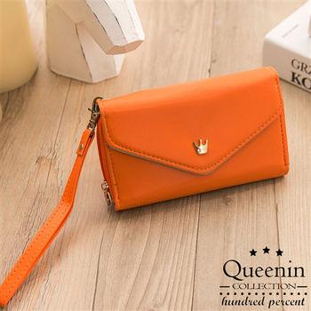 DF Queenin皮夾 - 韓版隨身手機包錢包手拿包-共4色