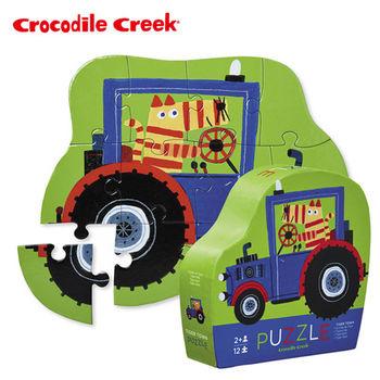 【美國Crocodile Creek】迷你造型拼圖系列-老虎拖拉機