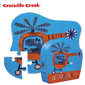 【美國Crocodile Creek】迷你造型拼圖系列-河馬直升機