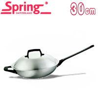 ~瑞士Spring~美食家美式炒鍋含蓋 ^#40 30cm ^#41