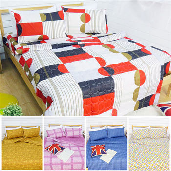 RODERLY - 精梳純棉 雙人四件式涼被床包組 (多款任選)