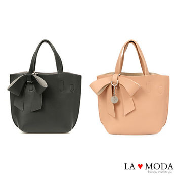 La Moda 可愛蝴蝶結大容量多種揹法子母包 (共2色)