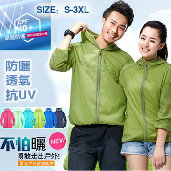 【LANNI】超輕量 防風抗UV 防曬連帽外套 ( 藍+1件任選 ) 超值兩件組 S~3XL