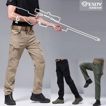 【LANNI】中性時尚款 IX7 - 執政官彈力戰術褲 ( 黑 / 軍綠 / 卡其 ) 3色選 M~XXL
