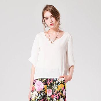 IFOREST 輕柔雪紡寬袖上衣(白色)16056