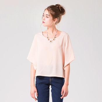 IFOREST 輕柔雪紡寬袖上衣(粉色)16056