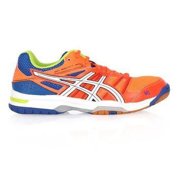 【ASICS】GEL-ROCKET 7 男排球鞋 - 羽球鞋 亞瑟士 螢光橘藍