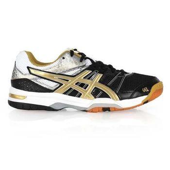 【ASICS】GEL-ROCKET 7 男排球鞋 - 羽球鞋 亞瑟士 黑金白