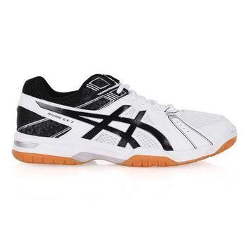【ASICS】RIVRE EX 7 男排球鞋 - 羽球鞋 亞瑟士 白黑