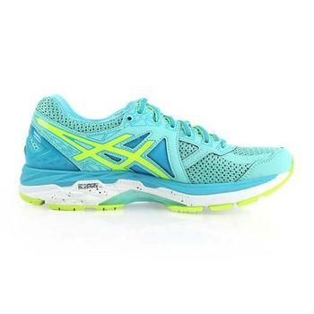【ASICS】GT-2000 4 女慢跑鞋- 路跑 健身 訓練 亞瑟士 淺藍螢光黃