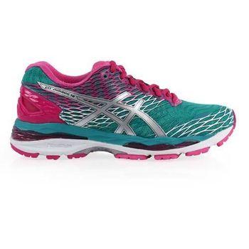 【ASICS】GEL-NIMBUS 18女慢跑鞋 - 路跑 亞瑟士 湖水綠桃紅