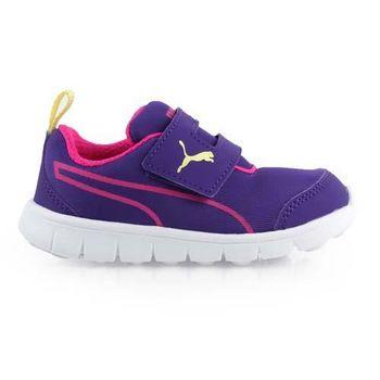【PUMA】BAO 2 V PLAY INF男女兒童休閒運動鞋 -童鞋 紫桃紅