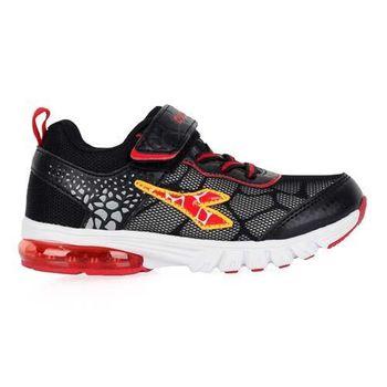 【DIADORA】男女中童氣墊慢跑鞋-男童 女童 童鞋 寬楦 黑紅黃
