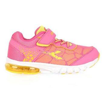 【DIADORA】男女中童氣墊慢跑鞋-男童 女童 童鞋 寬楦 粉紅黃